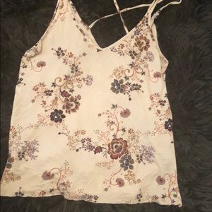 Strappy floral tank